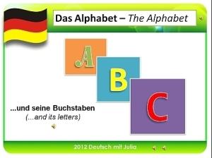 Deutsch mit Julia - Das Alphabet