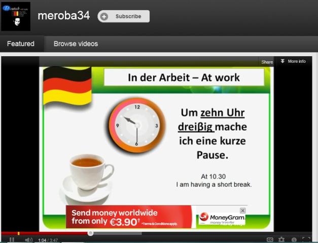 Beginner Lessons on U-Tube - Deutsch mit Julia