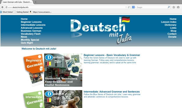 www.deutschmitjulia.info - Learn German with Julia online!